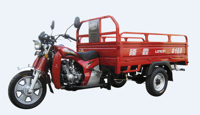 Loncin new high quality 2500kg 200cc /260cc/300cc heavy load adult cargo delivery tricycle/three wheel motorcycle made in China