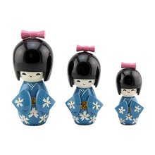 FQ brand wooden child antique kokeshi traditional japanese baby doll