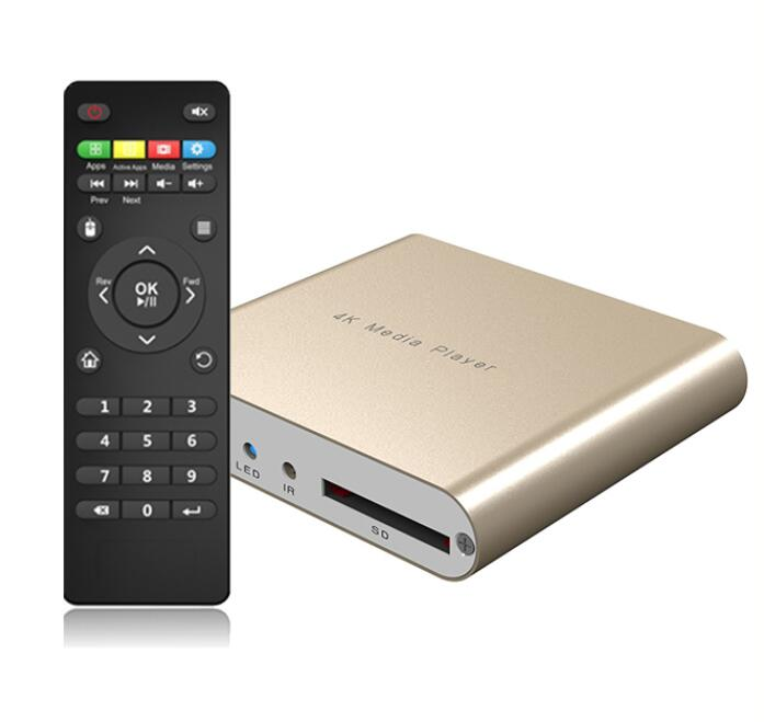 Manufacturer 4K digital signage media player with CE, FCC, RoHS and <strong>12</strong> months' warranty