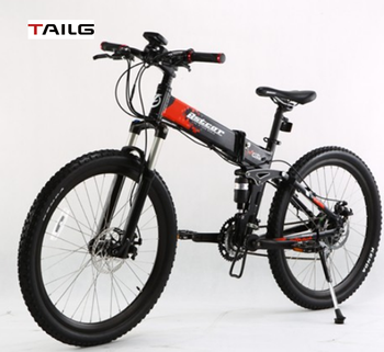 China wholesale Tailg 26'' sports mountain electric bike folding electric bicycle