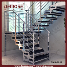 prefabricated modular home design stainless steel railing stair