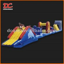 Popular Large Water Floating Inflatable Obstacle Slide