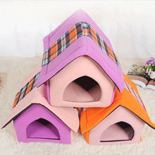 2018 lovely house shaped folding Dog bed house for sale