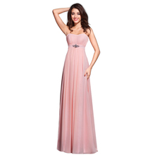 Simple Alibaba Evening Dresses Strapless Pink Dress Pleated For Party Bridesmaid