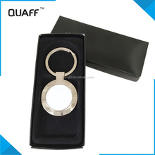 QUAFF cheap popular gift sublimation blank digital photo round metal keychain