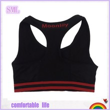 Solid Color Single Layer Seamless Racer Bra