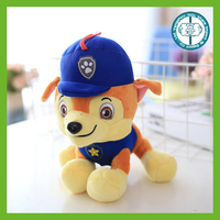 Kawaii best made cartoon stuffed soft plush toy dog with hat and clothes