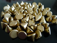 Fancy Gold colors Neon cone punk rivet spike beads!! 8x10mm Acrylic rivet spike beads for making Jewelry Bracelets!! !!