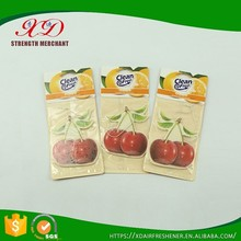 Wholesale Eco-friendly Hanging Paper Car Fragrance for Air Freshener Promotion