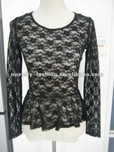 Ladies fashion lace tops