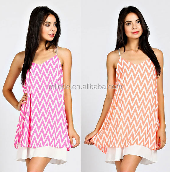 Chevron Halter Dress, Sleeveless chevron print halter fitted knit dress