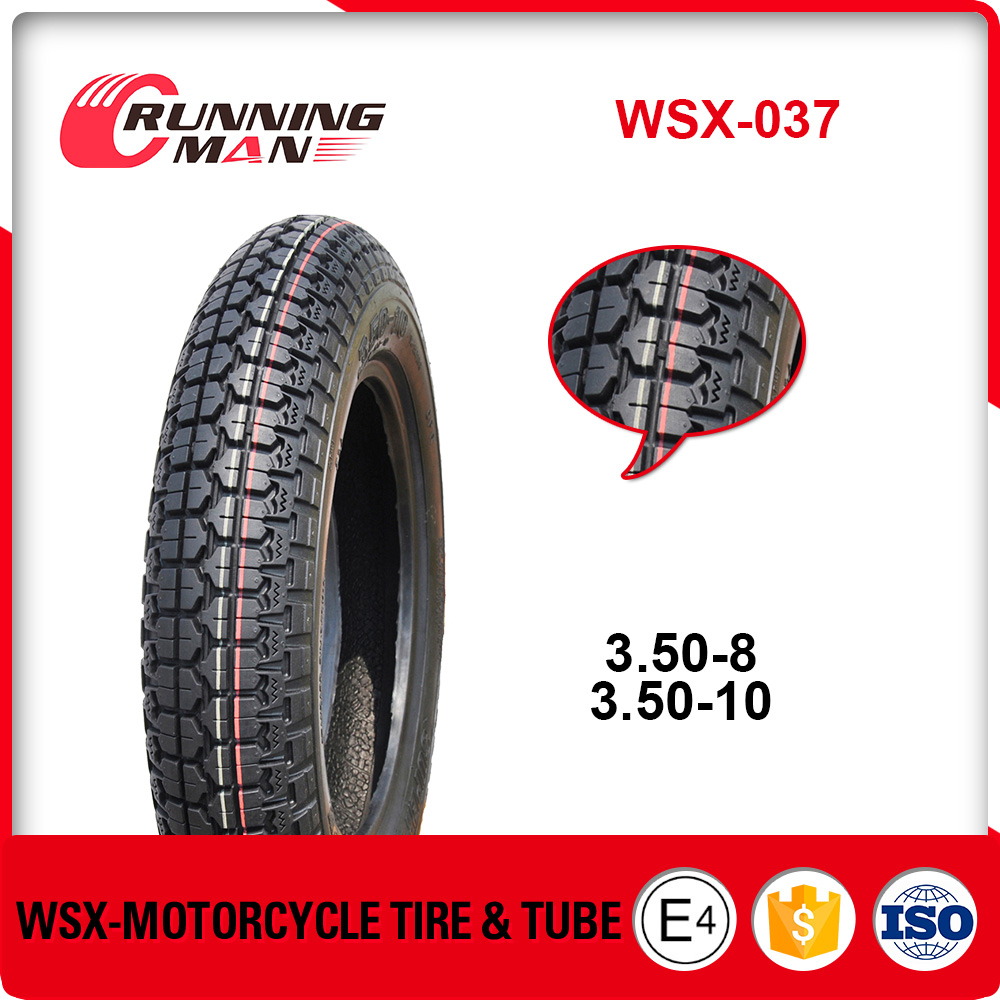 WSX-037 China Manufacture Price Motorcycle Tire 3.50-8 3.50-10