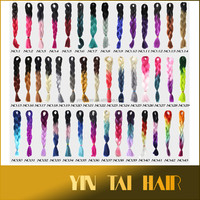 Large Stocks Two Tone Three Tone Ombre Marley Synthetic Hair Braiding, Cheap Colored Jumbo Synthetic Hair Braid
