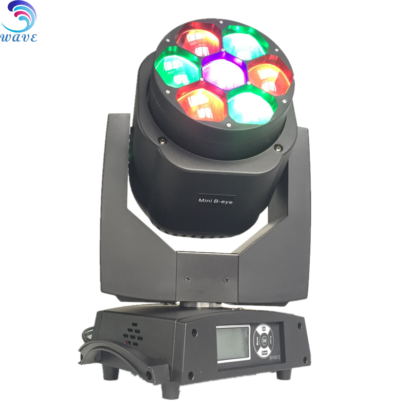 Factory Price 7 Pcs 10w Rgbw Led Bee Eye Moving Head led disco rainbow effect stage light