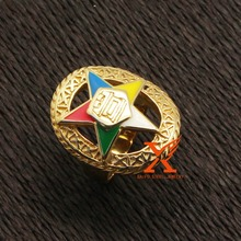 Stainless Steel Gold Plated Eastern Star Rings Each Size 30pcs