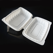 9*6inch 1 compartment food container Eco-friendly disposable lunchbox Environmental microwave lunch box(200pcs/carton)