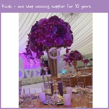 RH00380 wedding decor diy purple custom flower ball, cheap wholesale flower centerpieces