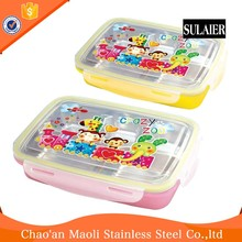 Luxury Electric Stainless Steel Cartoon Two-Layer Lunch Box