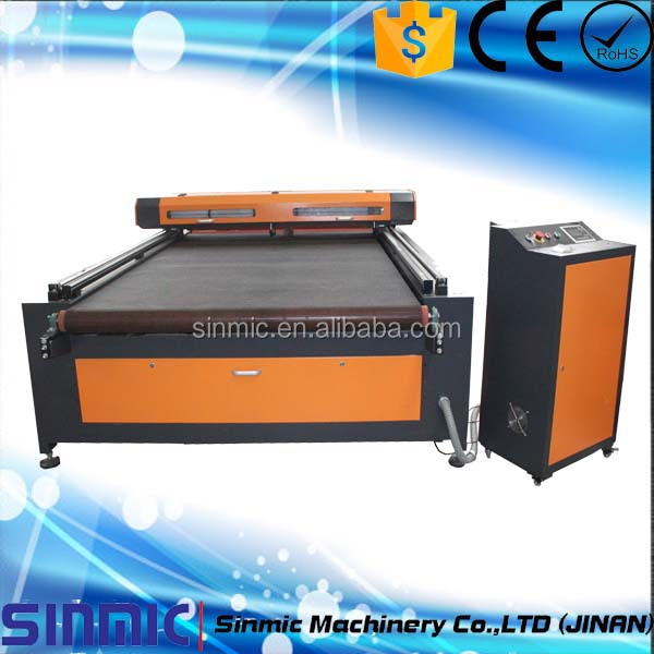 Automatic Feeding Laser Cutting Machine For Fabric/Cloths/Toys/Home Textile 1630