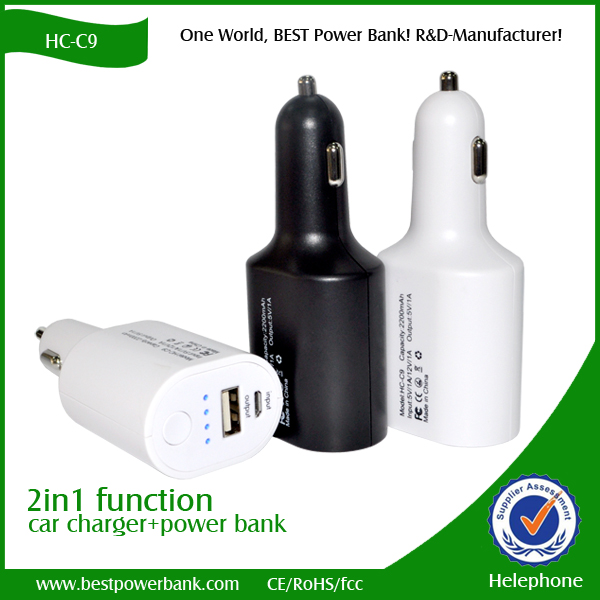 HC-C9 mobile power bank car charger power bank charger
