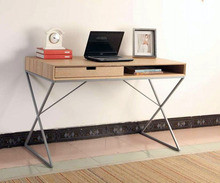 Home office SOHO modern computer desk with drawer laminate 3D paper stick panel study desk with drawer