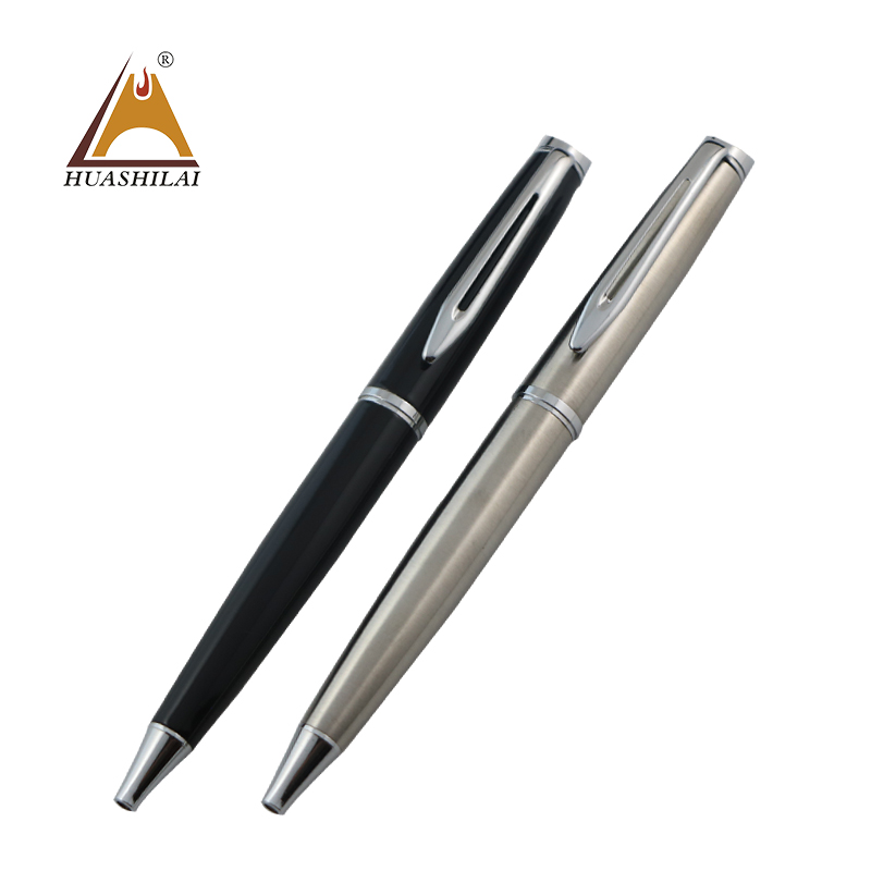 from china chinese new year gifts stylish stationery stainless steel silver ballpoint pen metal engravable pens <strong>friction</strong> pen