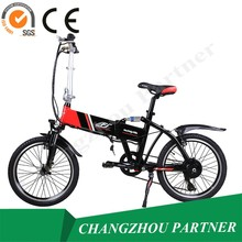 CE SGS Approved! Jiangsu Small Size Mini Folding City Mountain Electric Bicycle