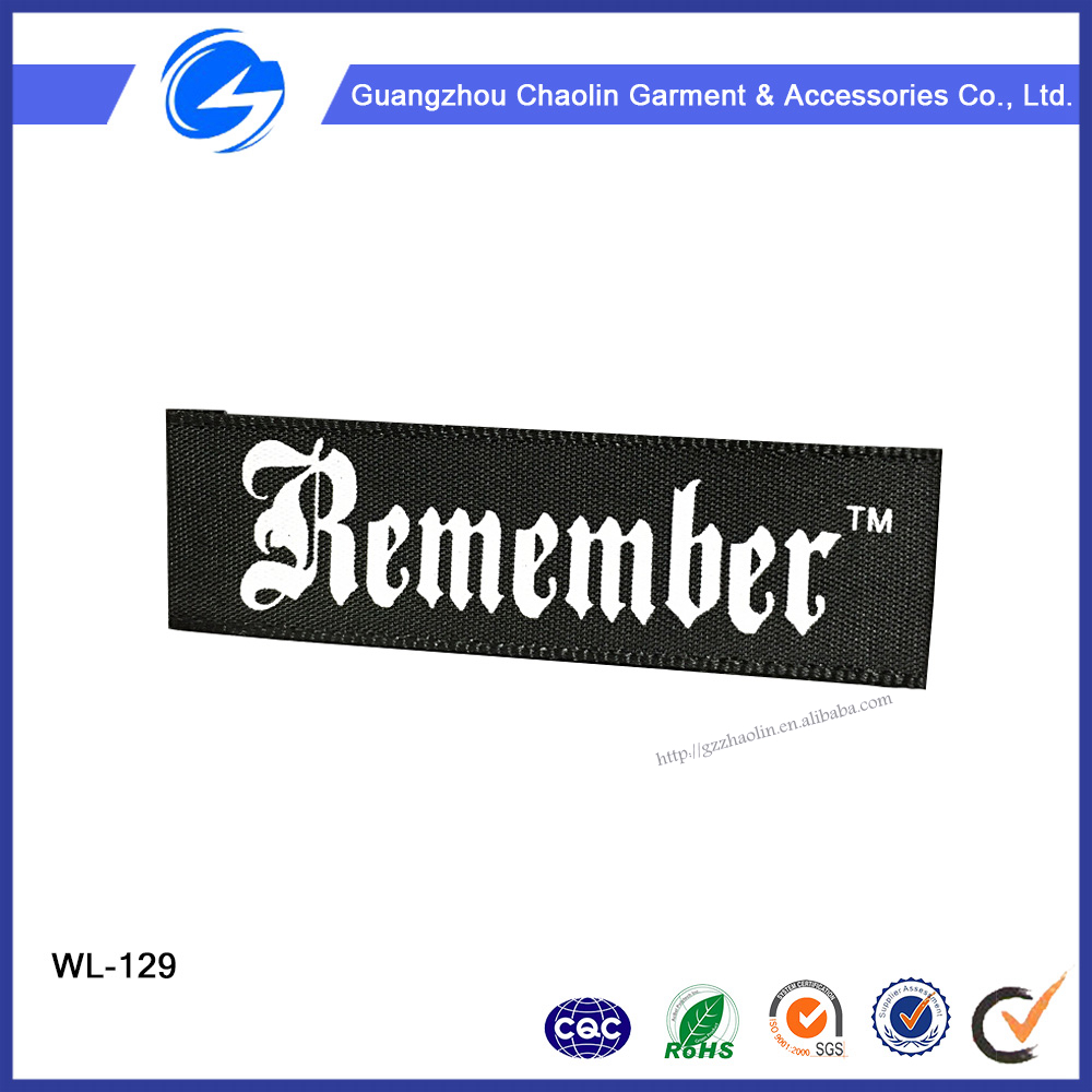 Customized Printing Label Printing Eco-Friendly Fancy woven label