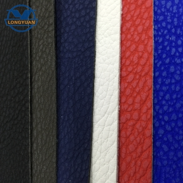 Embossed pu leather material