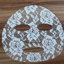beauty high quality lace material facial mask sheet dry white