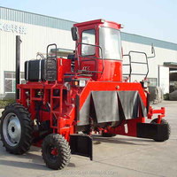 self-propelled compost turner machine/good performance compost turner