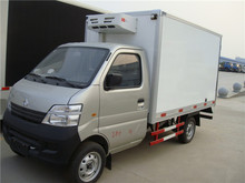 hot sale 4x2 chang an 1 ton gasoline mini refrigerated van