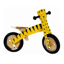 Hot Selling Kids Cartoon Tiger Wooden Bike Toy