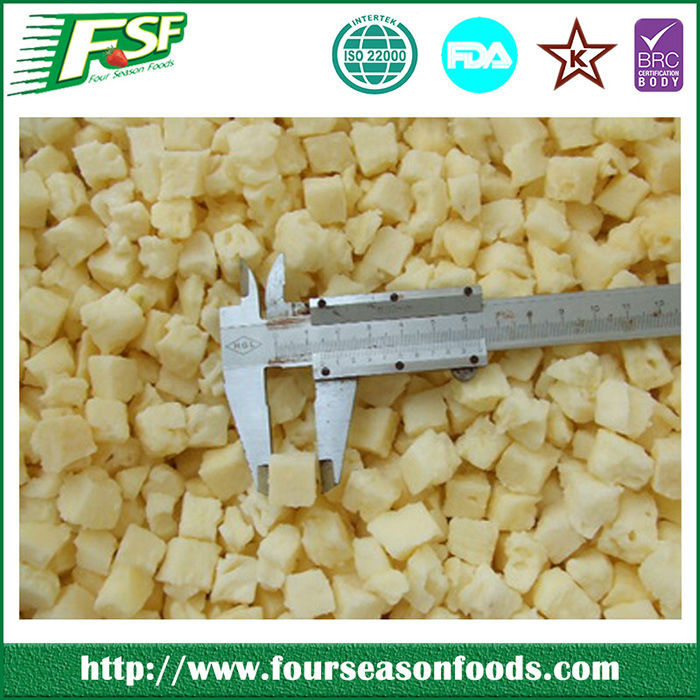Novelties Wholesale China iqf frozen pineapple (dice)
