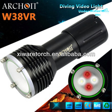 Archon diving video/photo light 2* red led 2* white led 1600 lumen diving torhes
