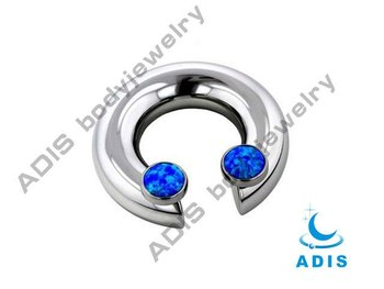 captive bead ring,nose piercing with cz stone