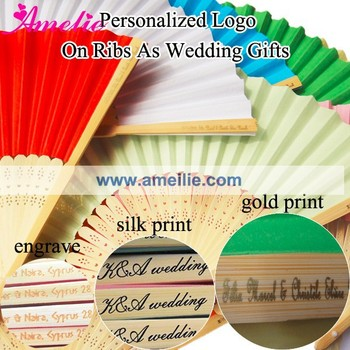 Customized Logo Printed Hand Fan Wedding