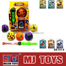 2014 promotional gift flash spinning top musical spinning tops