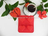 Brand new flower shape silicone tea cupcake with high quality
