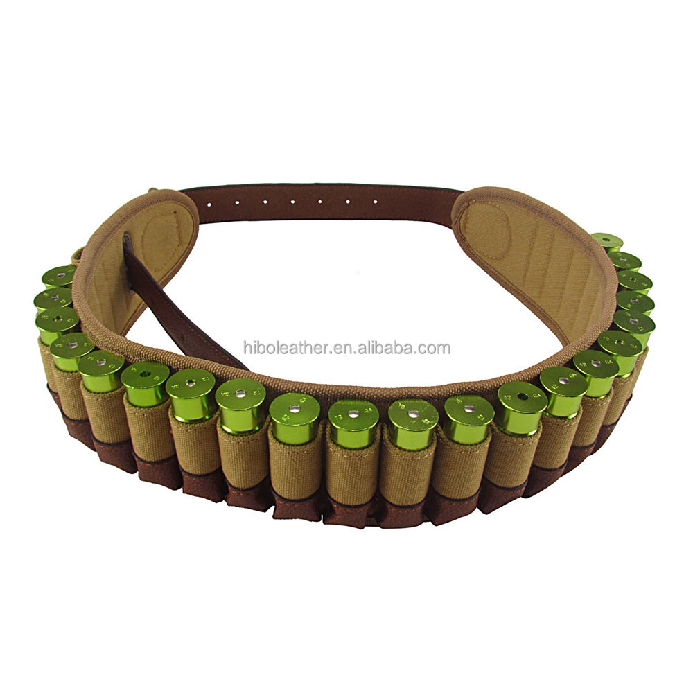 Small order wholesale canvas and leather ammo 12GA shell belt