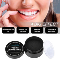 factoty supply CE FDA safe natural Activated Teeth Whitening Charcoal Powder organic Teeth Whitener with private custom label