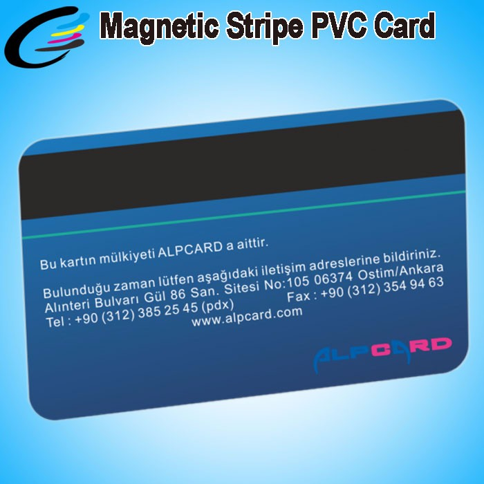 Credit Card Size Inkjet Printing Smart Magnetic Stripe PVC Cards