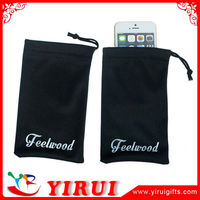 YD019 silkscreen printing customized logos microfiber mobile phone pouch