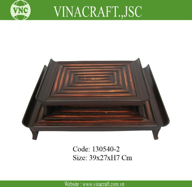 Anique traditional bamboo tea Tray