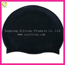 Comfortable printing silicone large swimming cap soft rubber smoothly feeling good price silicone oem swimming caps