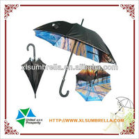 standard size auto open wooden shaft straight umbrella