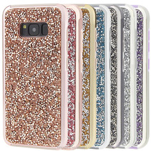2 in 1 Dual Layer Shimmering Glitter Power Phone Case Cover For Samsung S8
