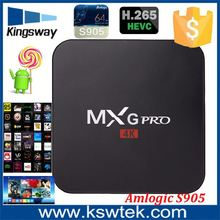 Experienced factory supply amlogic s905x mxg pro 4k web browser smart tv box