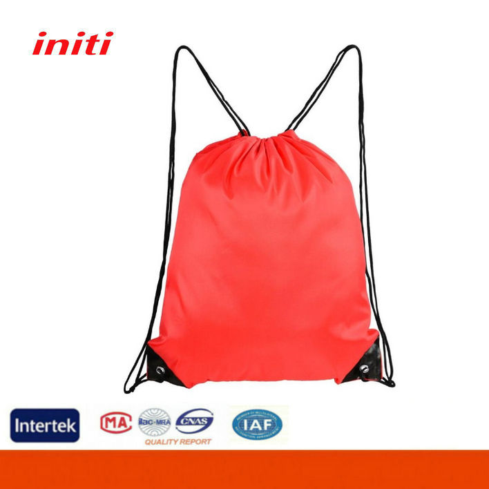 2015 High Quality Polyester Soccer Shoe Bag Drawstring Backpack Bag