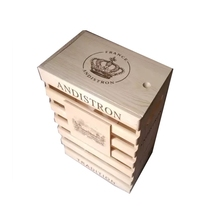 6 Bottles Wooden Wine Box with remove lid YIXING3877